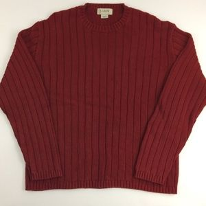 J. Crew Men's Large Red Sweater Cotton Crewneck